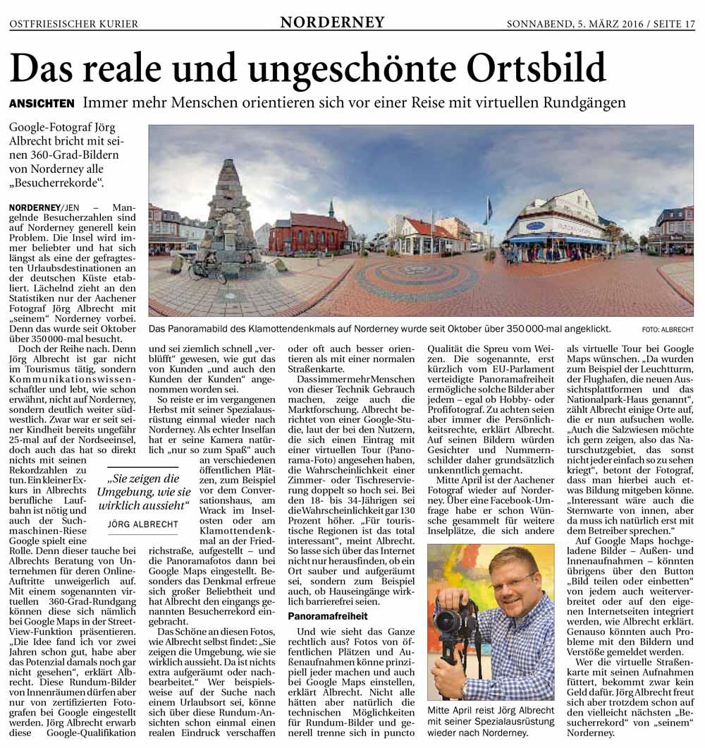 Presseecho im Ostfriesischen Kurier