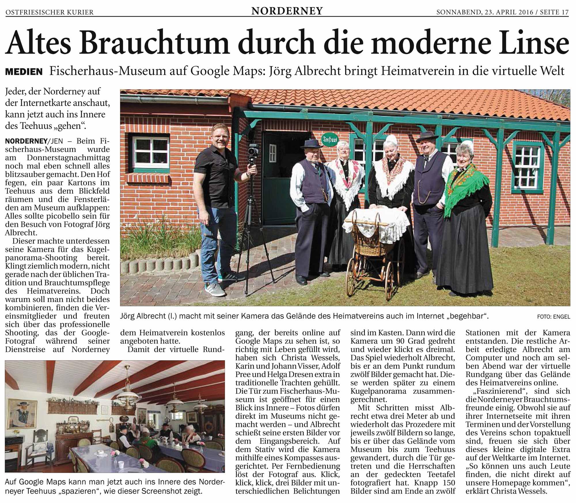 """Ostfriesischer Kurier: """"Altes Brauchtum durch die moderne Linse"""""""