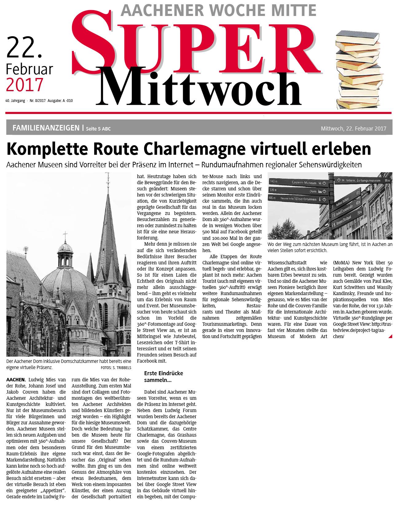 Super Mittwoch: Komplette Route Charlemagne virtuell erleben